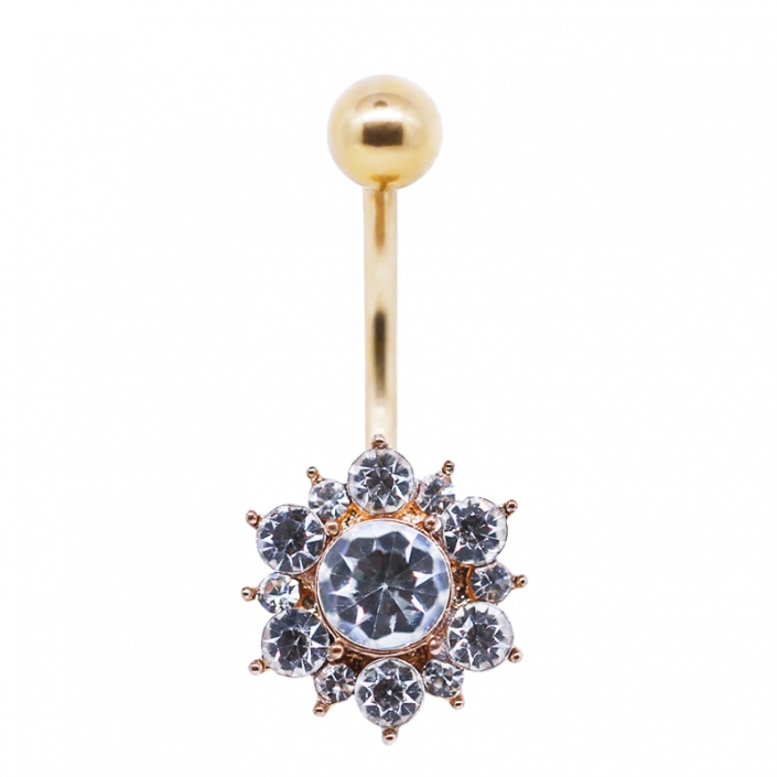 crystal gems navel ring