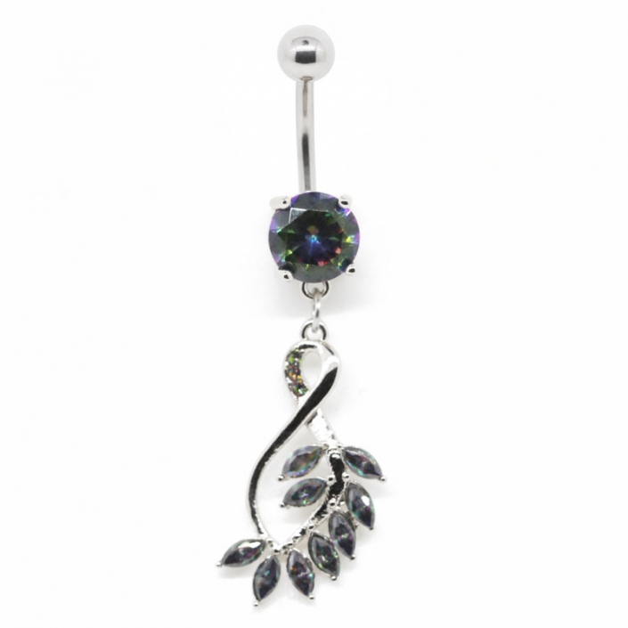Fashion Zirconia Dangle Belly Button Piercing Jewelry