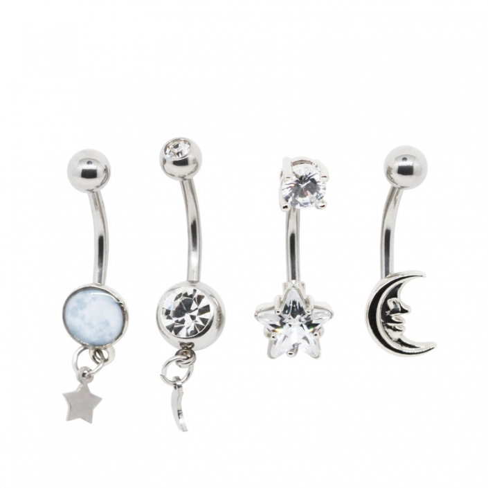 316 Stainless Steel Dangle Belly Navel Piercing Jewelry