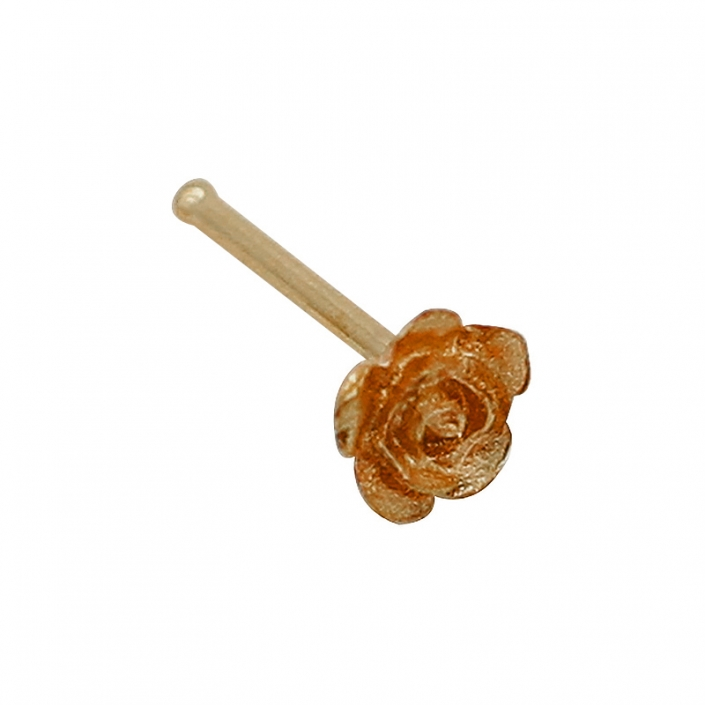 316L Surgical Steel Unique Gold Flower Nose Stud Body Jewelry
