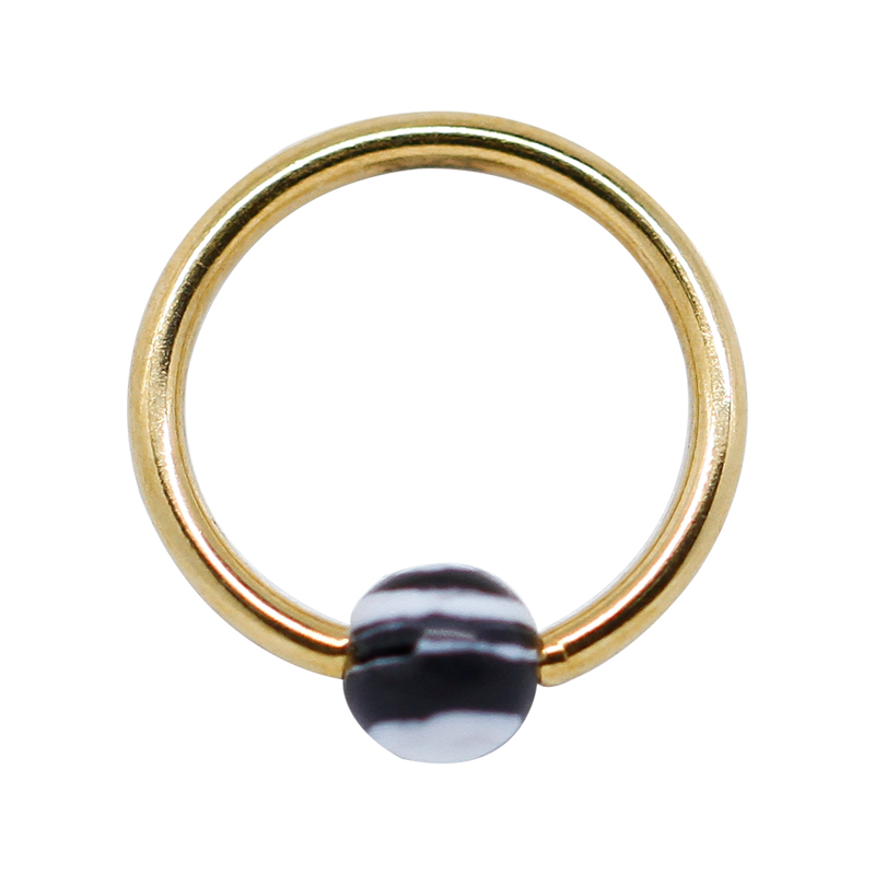 Gold Clip On Ball Nose Ring Body Piercing Jewelry