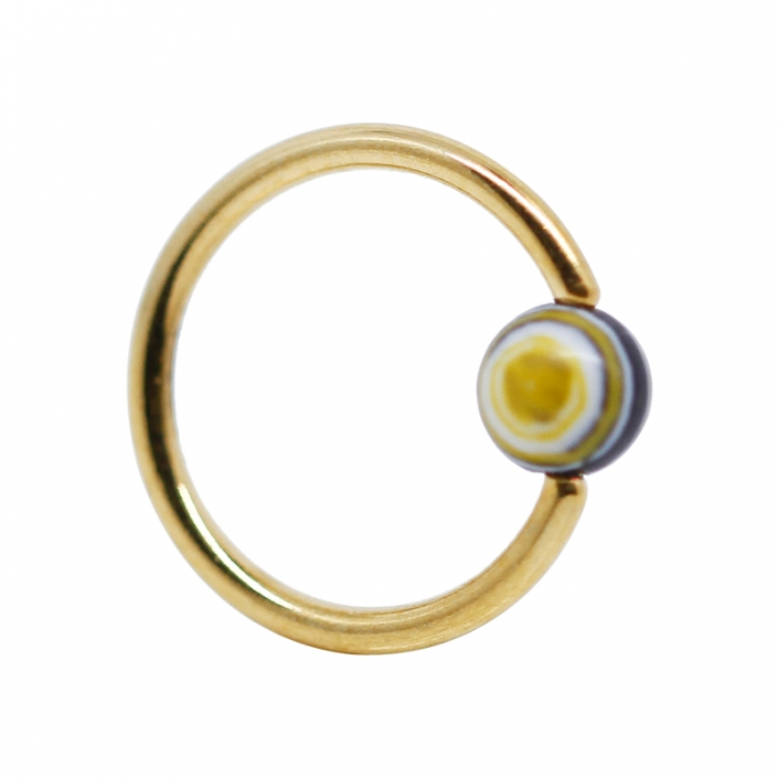 Hot Sale Gold Ball Nose Ring Stud Piercing Jewelry-YH-BHH0081-GD