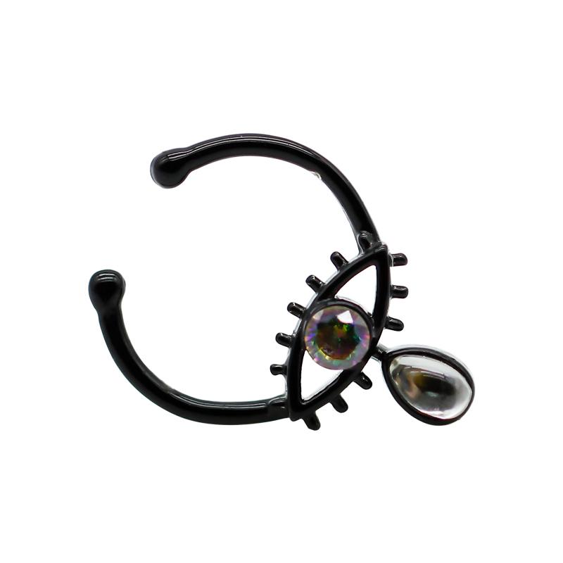 Unique Design Zircon Eye Black Nose Septum Ring Body Jewelry