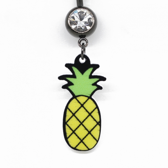 Stainless Steel Pineapple Dangle Belly Navel Piercing Jewelry