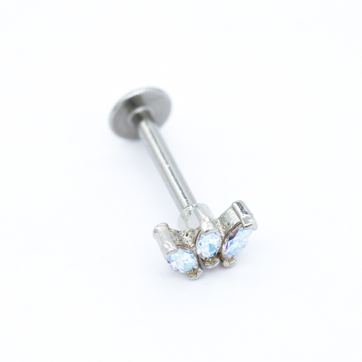 crystal piercing - labret piercing